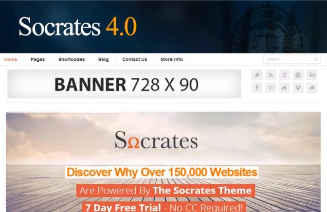 Conoce Socrates 4.0, la plantilla premium para tu Blog/Web!